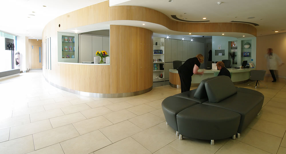 The waiting room at our Watford dentist, Senova Dental Studios in Watford, Hertfordshire