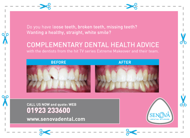Complimentary dental health advice from our Watford dentist, Senova Dental Studios in Watford, Hertfordshire